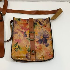 Patricia Nash floral leather cross body bag